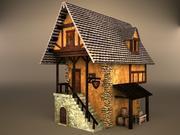 medeltida hus 3d model