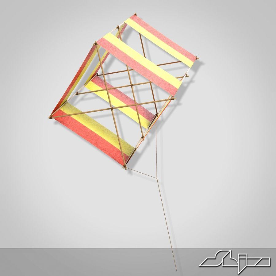 Box Kite royalty-free 3d model - Preview no. 4