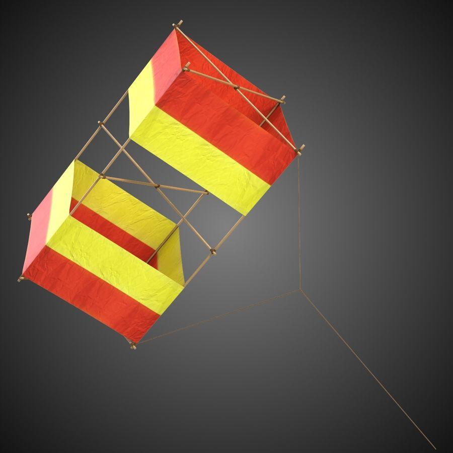 Box Kite royalty-free 3d model - Preview no. 2