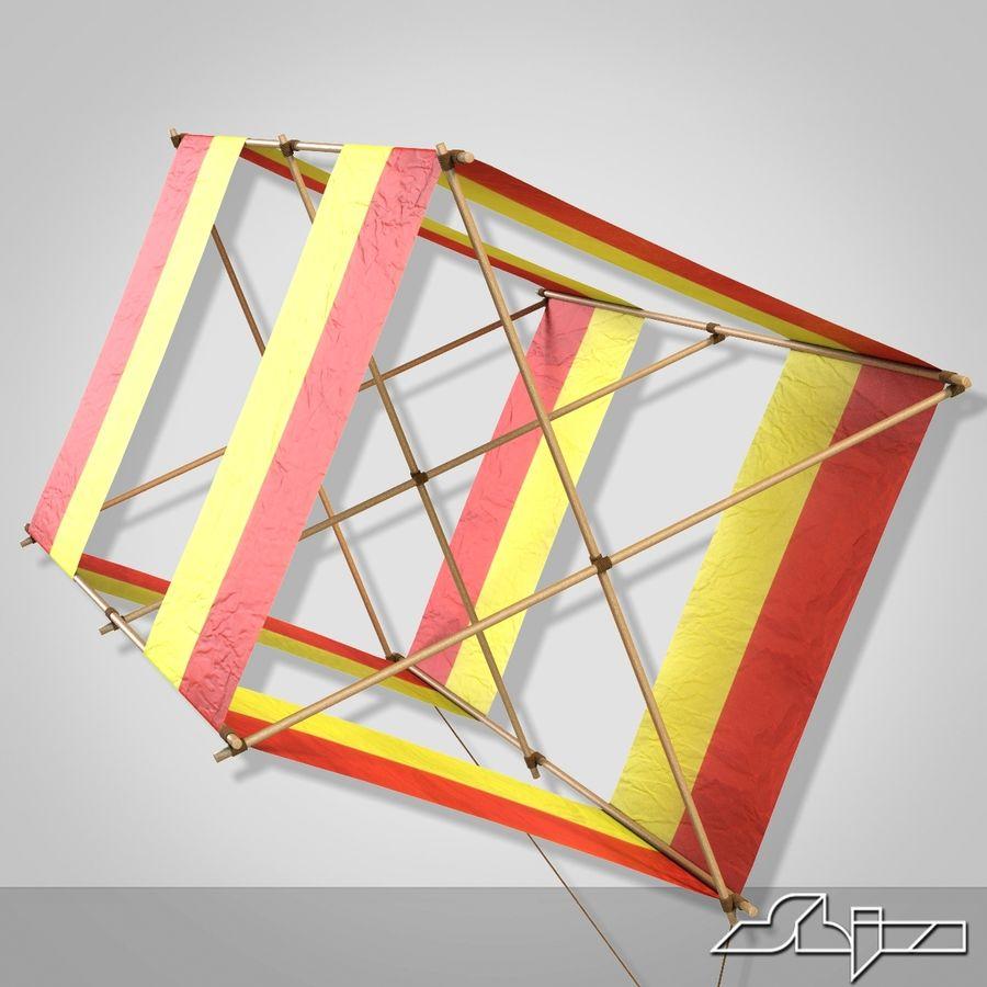 Box Kite royalty-free 3d model - Preview no. 5