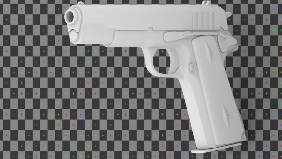 コルト1911 royalty-free 3d model - Preview no. 4