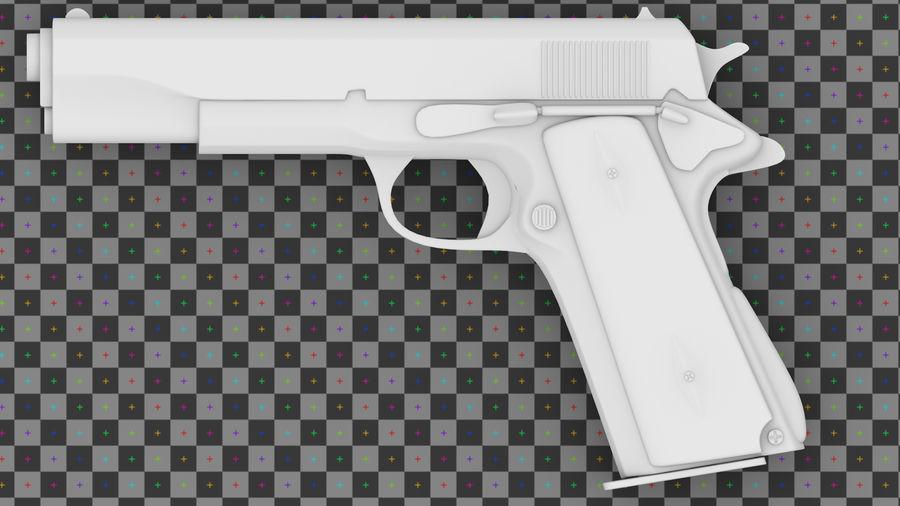 コルト1911 royalty-free 3d model - Preview no. 6