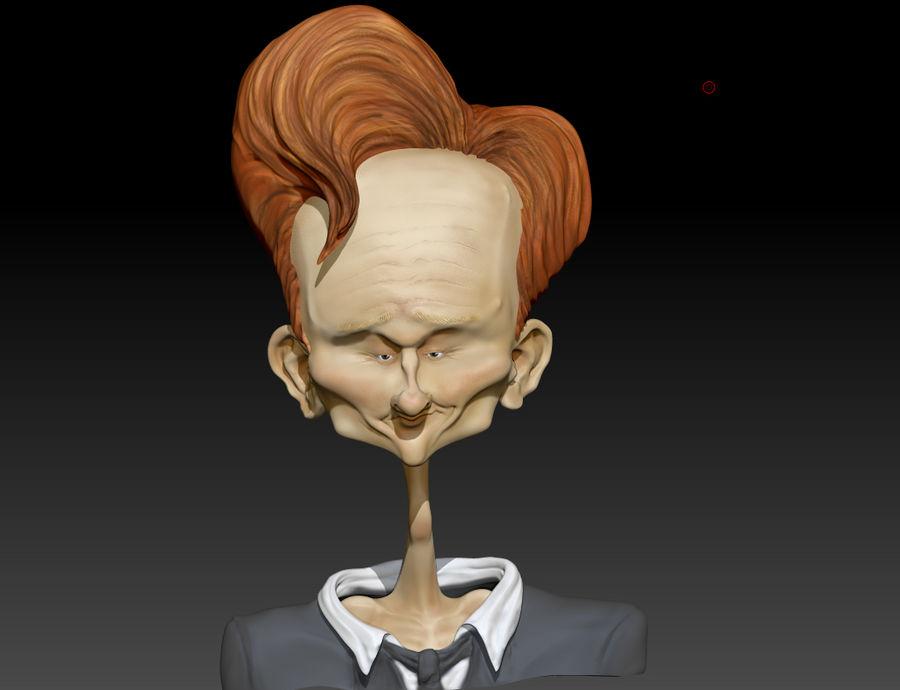 Karykatura Conana O'Briana royalty-free 3d model - Preview no. 1