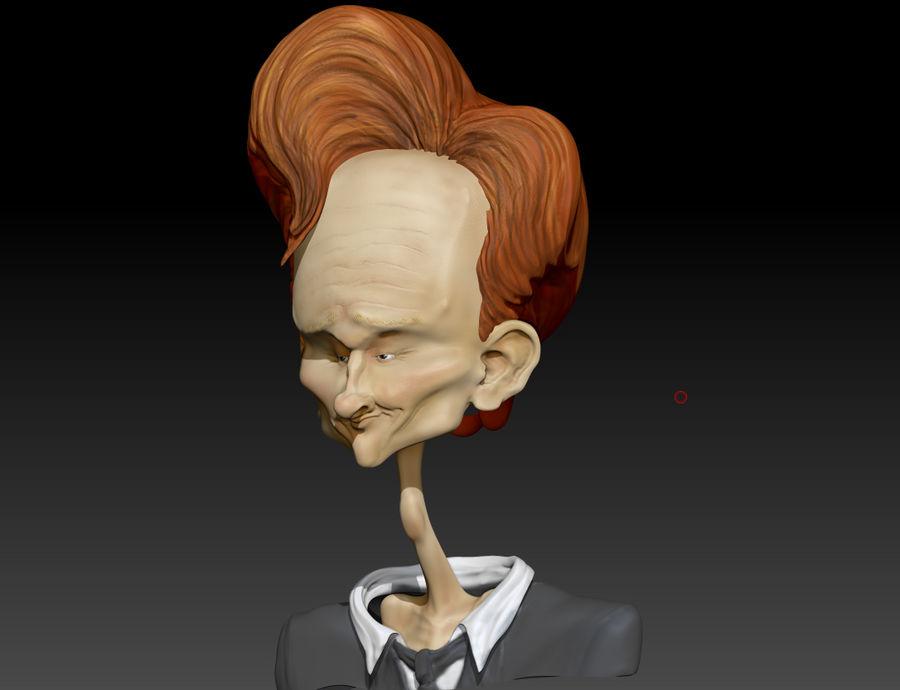 Karykatura Conana O'Briana royalty-free 3d model - Preview no. 2