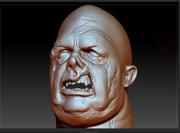 Fat Zombie Head 3d model