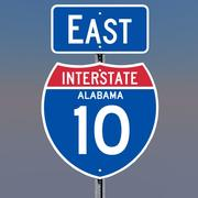 3D Alabama Interstate 10 tekenen 3d model