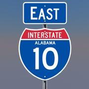 3D Alabama Interstate 10 tekenen 3d model