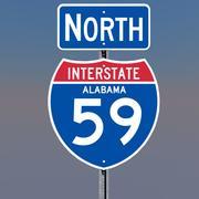 3D Alabama Interstate 59 Tekens 3d model
