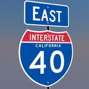 3D Kalifornien mellanstatliga 15 skyltar 3d model