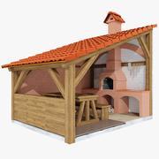 grill grill terrass 2 3d model