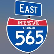 3D Alabama mellanstatliga 565 skyltar 3d model