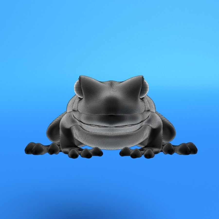カエル royalty-free 3d model - Preview no. 2