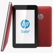Tablet HP Slate 7 Vermelho 3d model
