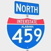 3D Alabama mellanstat 459 skyltar 3d model