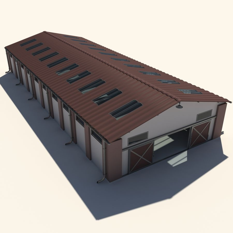 lager royalty-free 3d model - Preview no. 2