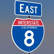 3D Californië Interstate 8 tekenen 3d model
