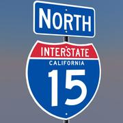 3D Californië Interstate 15 tekenen 3d model