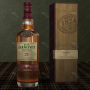 Il whisky Glenlivet Scotch single malt di 21 anni 3d model