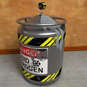 液体窒素タンクコンテナ 3d model