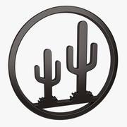 Wall Decor Cactus 3d model