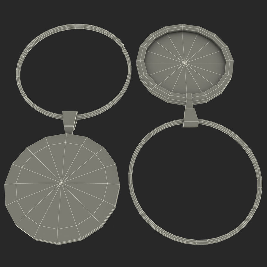 Wine Glass Pendant Sagittarius royalty-free 3d model - Preview no. 13