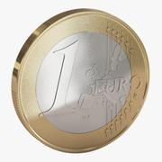 Moeda de Euro 3d model