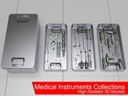 Medische instrumenten collecties 3d model
