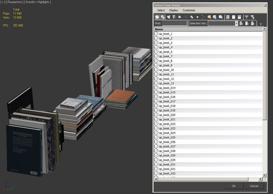 Books Collection royalty-free 3d model - Preview no. 16