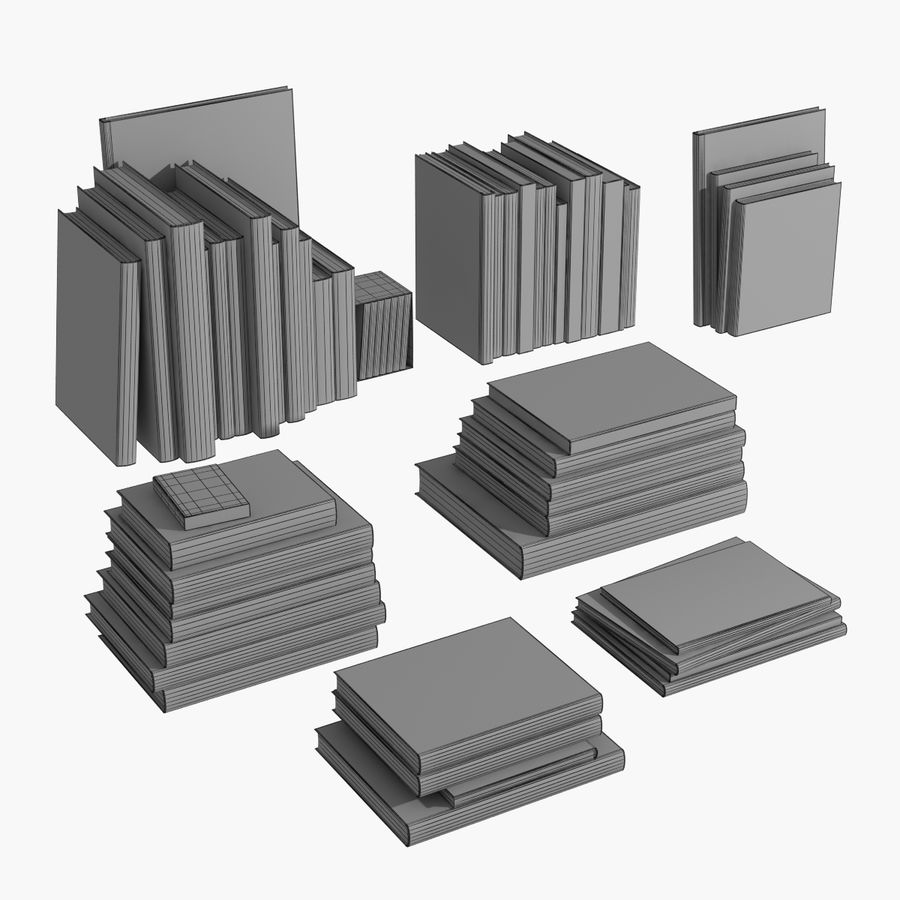 Books Collection royalty-free 3d model - Preview no. 3