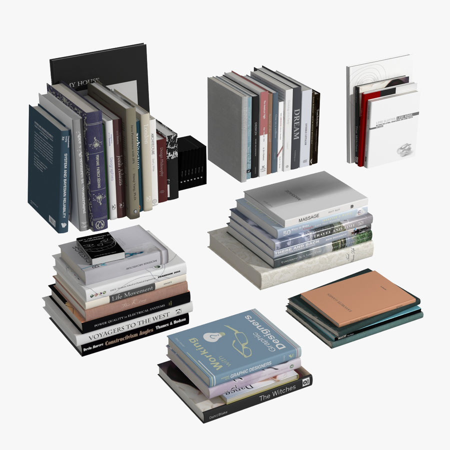 Books Collection royalty-free 3d model - Preview no. 1