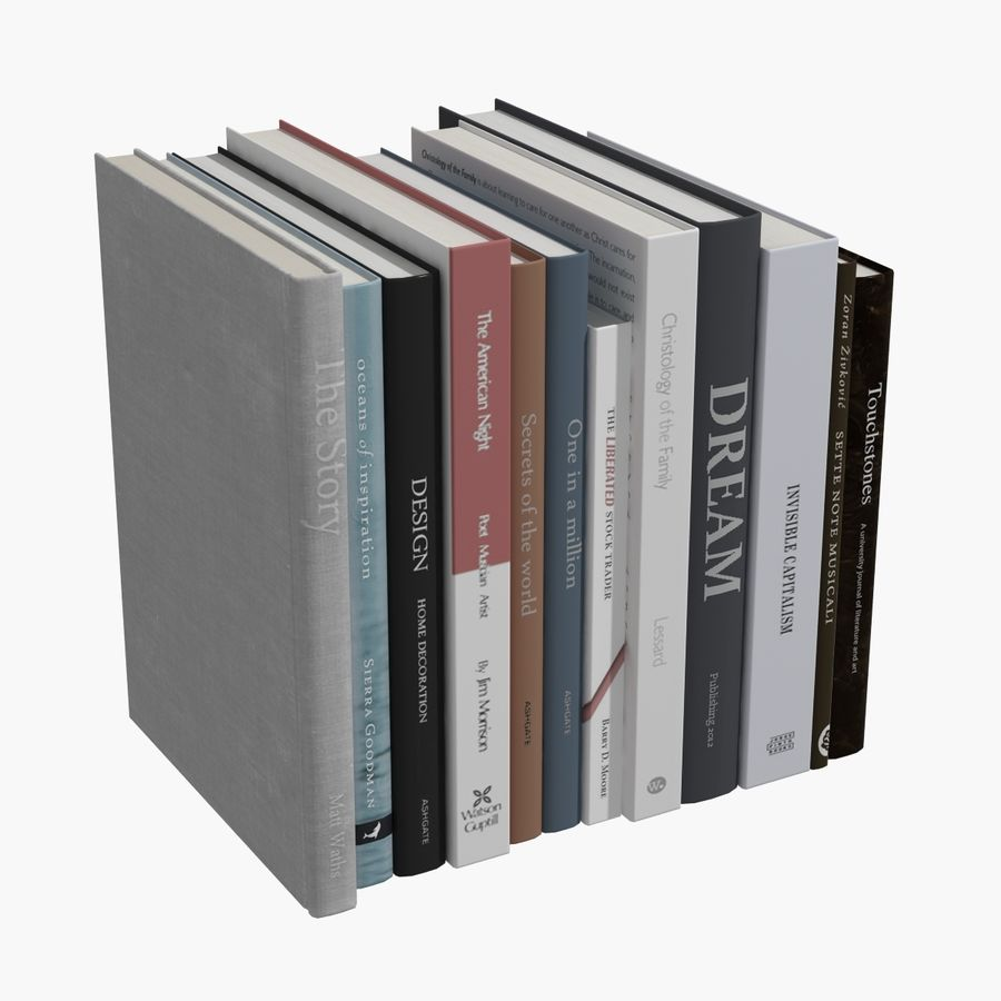 Books Collection royalty-free 3d model - Preview no. 13