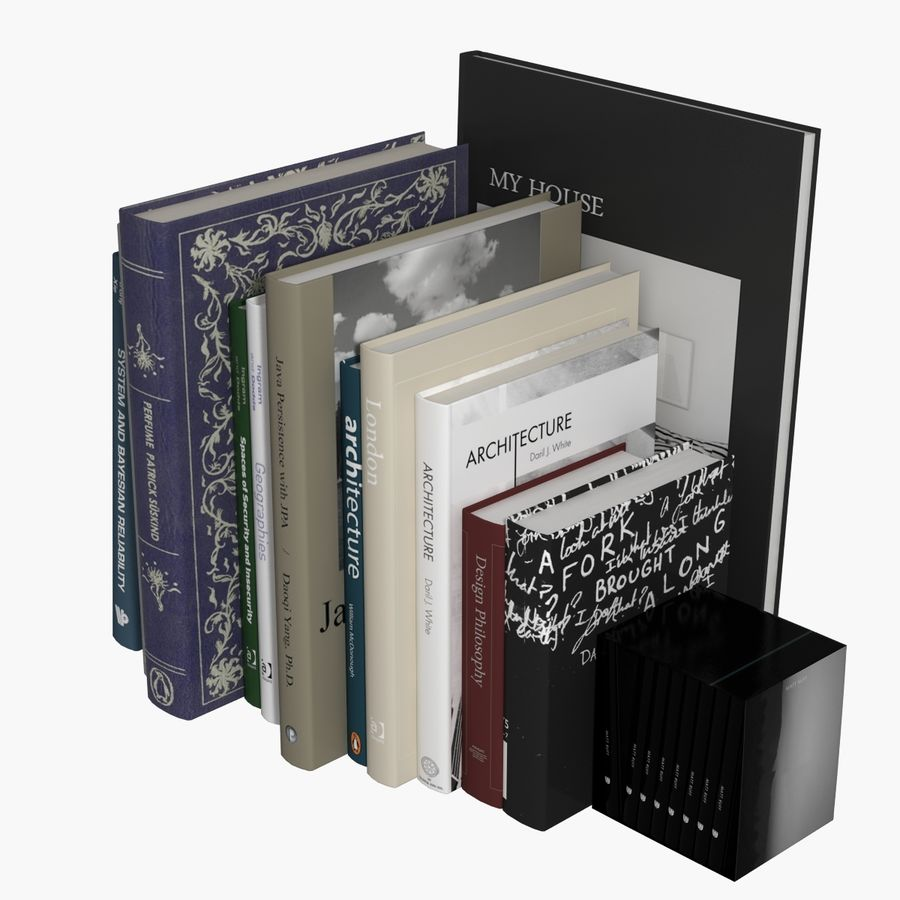 Books Collection royalty-free 3d model - Preview no. 14