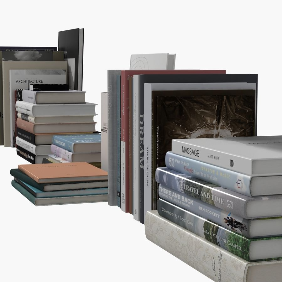Books Collection royalty-free 3d model - Preview no. 15