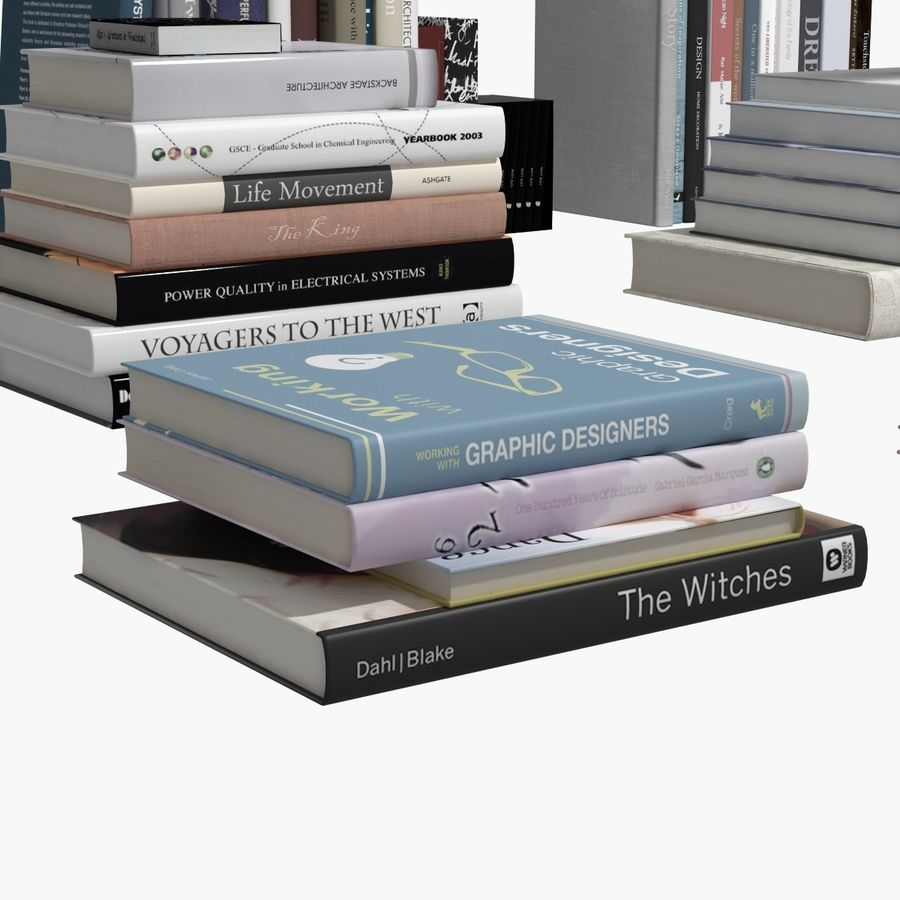 Books Collection royalty-free 3d model - Preview no. 9