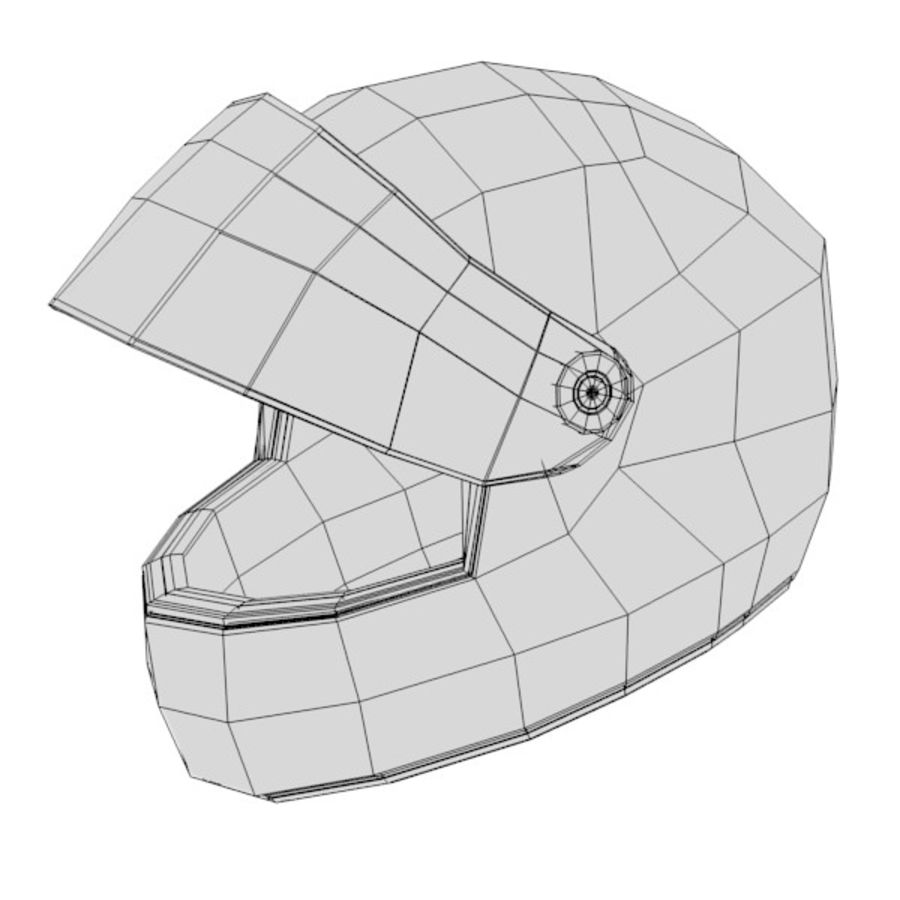 casque (racing) royalty-free 3d model - Preview no. 5