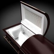 Caixão clássico de alta definição XL 3d model