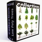 나무 (낮은 폴리) 3d model