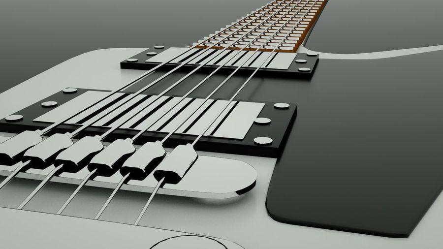 Guitar epiphone 1958 korina royalty-free 3d model - Preview no. 3