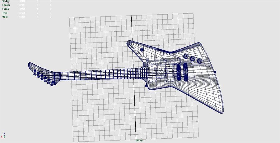 Guitar epiphone 1958 korina royalty-free 3d model - Preview no. 7