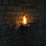 castle fire place 3d model