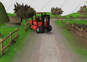 Low poly farm for 3d game 3d model