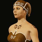 Kobieta z dżungli 3d model