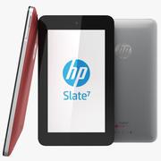 Coleção HP Slate 7 para tablet e vermelho 3d model