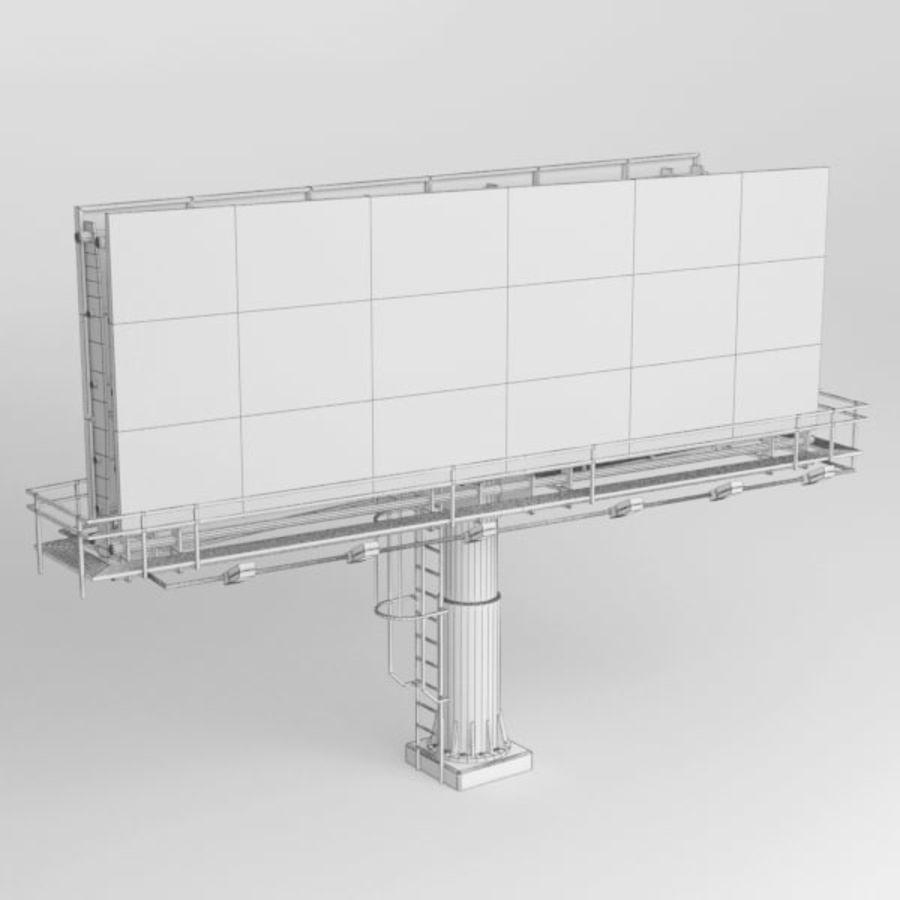 İlan panosu royalty-free 3d model - Preview no. 7