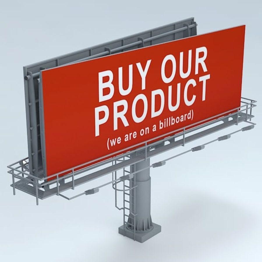 İlan panosu royalty-free 3d model - Preview no. 4