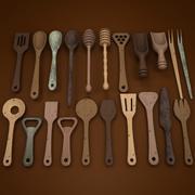 Wooden Spoon 3d model