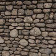 Pared de roca, modular modelo 3d