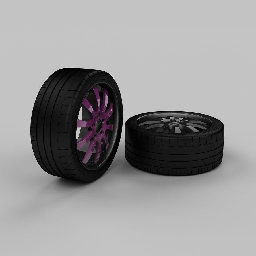 Michelin Asanti Wheel royalty-free 3d model - Preview no. 2