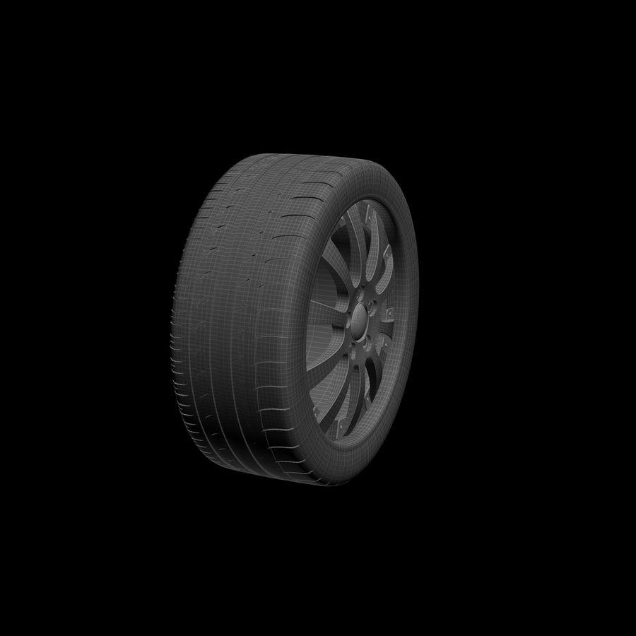 Michelin Asanti Wheel royalty-free 3d model - Preview no. 6