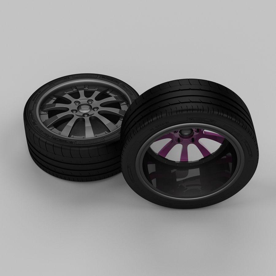 Michelin Asanti Wheel royalty-free 3d model - Preview no. 5